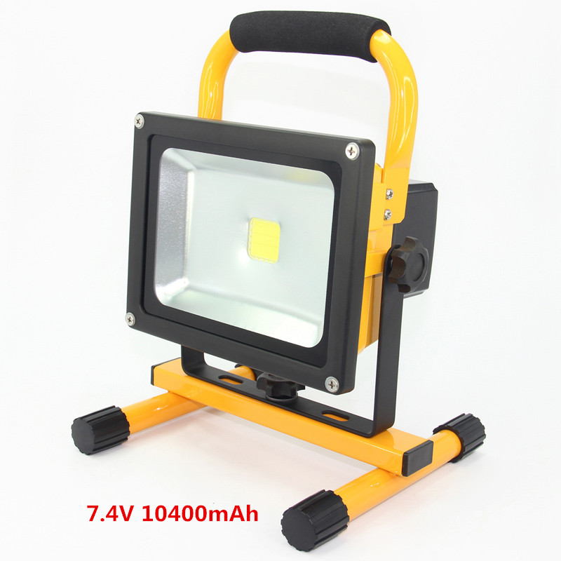 Rechargeable Work Lights 20W Outdoor Camping Emergency Light Portable Floodlights led reflector with Built-in Lithium Batteries led portable floodlight 20w rechargeable spotlight lithium ion battery outdoor emergency camping fishing night work ip65 dynasty