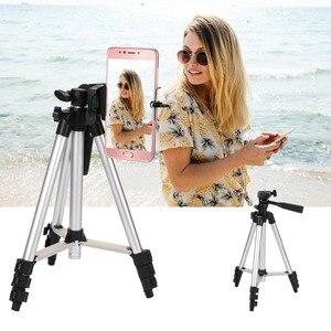 Image 3 - KOOYUTA profesyonel alüminyum kamera Tripod standı tutucu telefon tutucu naylon taşıma çantası iPhone Smartphone için dört kat yüksek