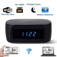 Table Clock With IP WiFi Night Vision Small Micro Secret Video Mini Camera Cam Wifi Motion Sensor HD 1080p Camcorder Minicamera