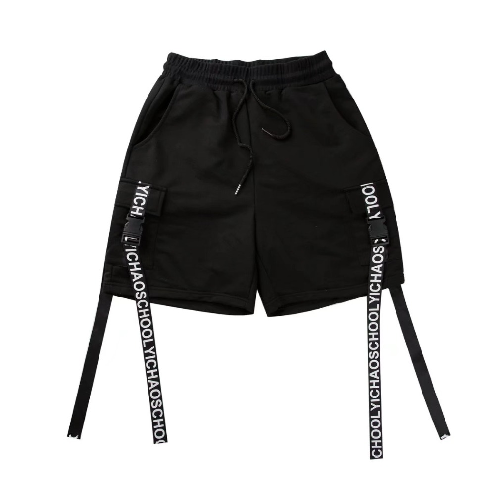Side Ribbon Elastic Waist Drawstring Shorts 3