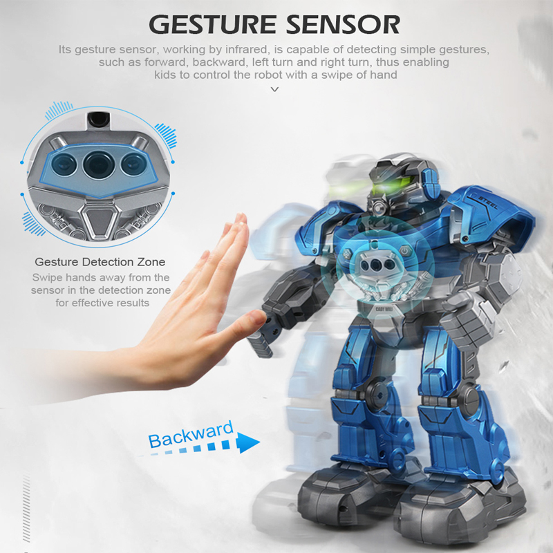 Image 2 - JJRC R5 Robot Intelligent Programmable Auto Music Dance RC Robot For Children Smart Watch Follow Gesture Sensor RC Toys Robo-in RC Robot from Toys & Hobbies