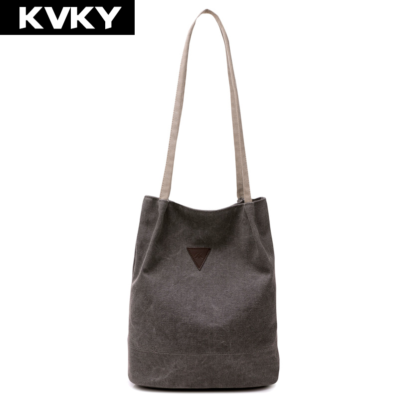 KVKY New Casual Bucket Designer Handbags High Quality Women Messenger Bags Canvas Vintage Shoulder Bag Ladies Crossbody Bags casual canvas women men satchel shoulder bags high quality crossbody messenger bags men military travel bag business leisure bag