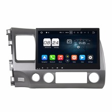 Octa Core 2 din 10.1″ Android 6.0 Car Radio DVD GPS for Honda Civic 2006-2011 With 2GB RAM Bluetooth WIFI 32GB ROM Mirror-link
