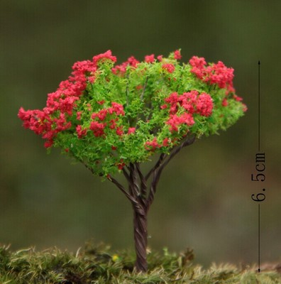 Diy Materialplastic Crafts Mini Fake Tree With Red Or Yellow
