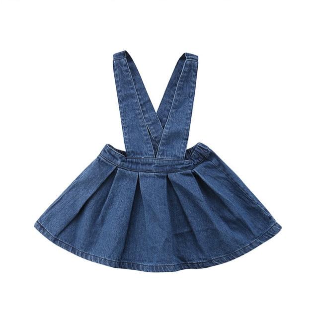 5f681b5290 Children Baby Girl Kid Summer Sleeveless Denim Skirt Overalls Tutu Skirts Girls  Clothing Blue Party Clothes