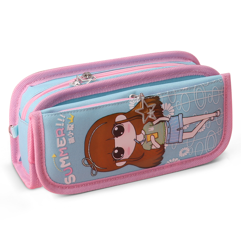 New Kawaii Creative Children Student Large Capacity Pencil Bag Multifunction Zipper Pencil Case Storage Bags School Stationery creative large capacity simple design transparent pencil case bag double zipper pencil box storage stationery exam supplies pl