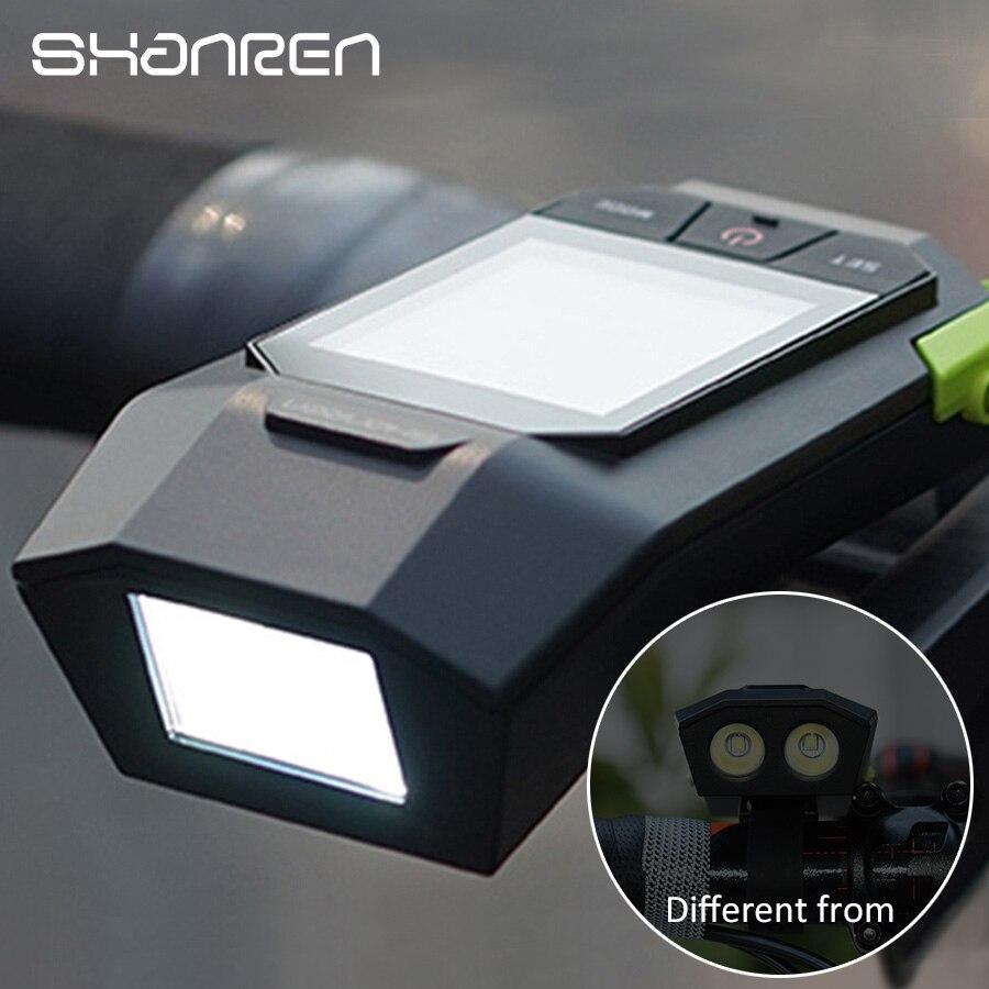 German optical certificat Bike light upgrade shanren Raptor II bike computer wireless gps bicycle speedometer stopwatch