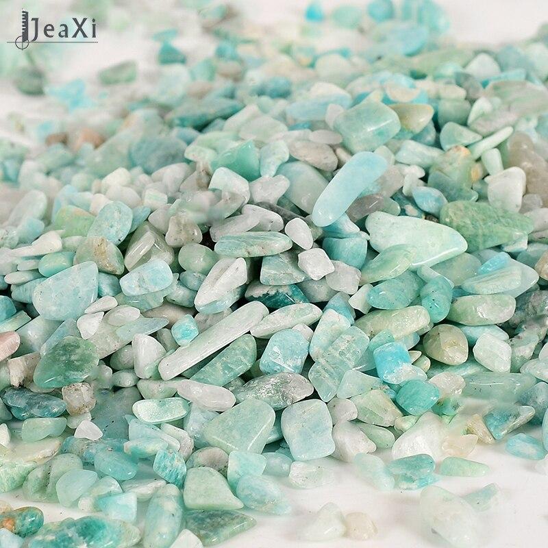 100 г натуральный Амазонит упали камень Исцеление Рейки кварцевый камень рок чипы цветник декоративная нерегулярные камень