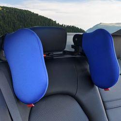 Zagłówek podróżny może być dowolną obrotową głowicą pojazdu poduszka boczna samochodu poduszka transgraniczna poduszka pod kark 19QD w Poduszka pod szyję od Samochody i motocykle na
