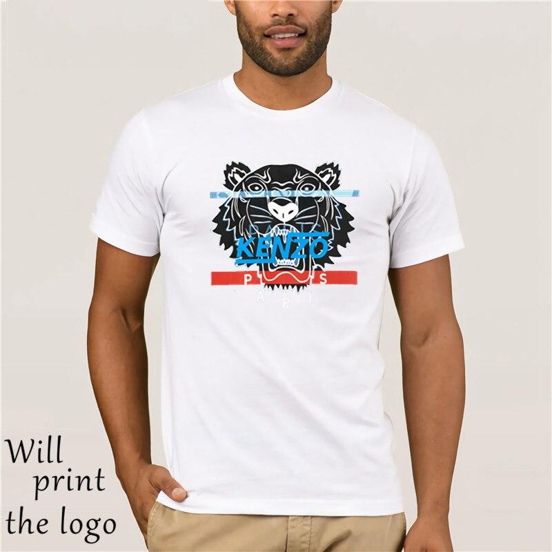 1 Kenzo Tiger T-shirt Schwarz Kostenloser Versand Unisex Casual Straße Tragen