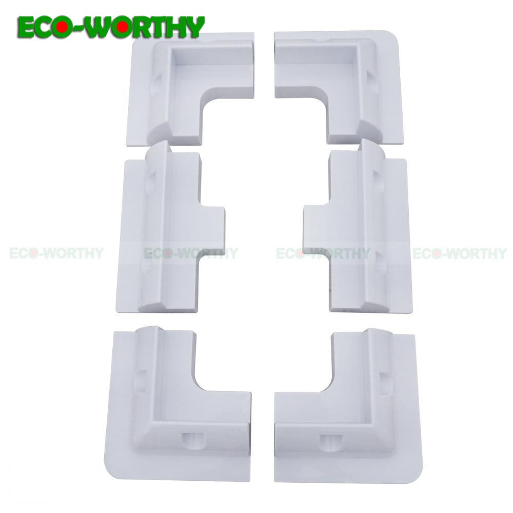 Solar Panel Mounting Brackets Kit ECO-WORTHY solar panel four corner bracket and side bracket