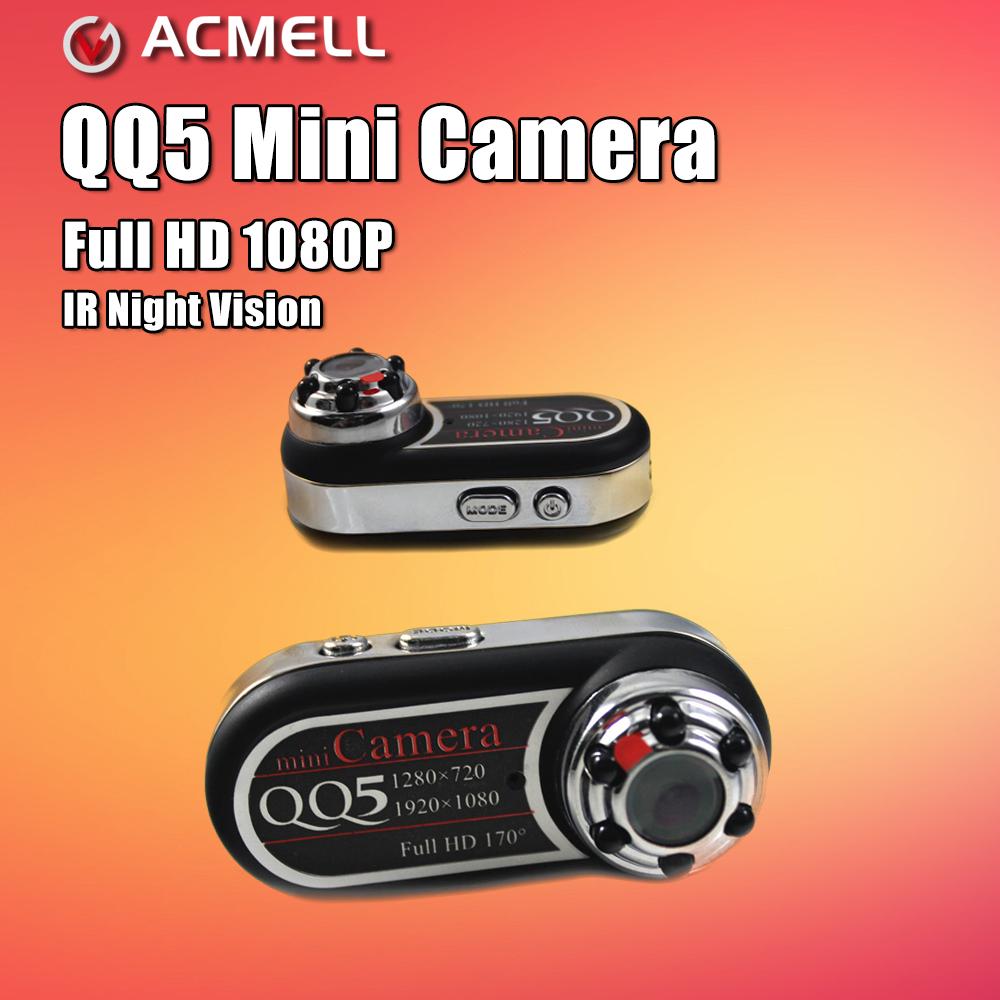 Prix pour QQ5 Mini Caméra Full HD 1080 P 720 P Infrarouge de Vision Nocturne dvr petite caméra caméscope 12mp webcam 170 large angle motion détection