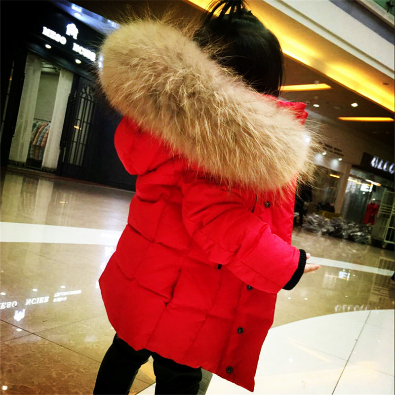 2018 New Boys and Girls Winter Thick Fashion Down Jacket Coats with Large Fur Collar цена