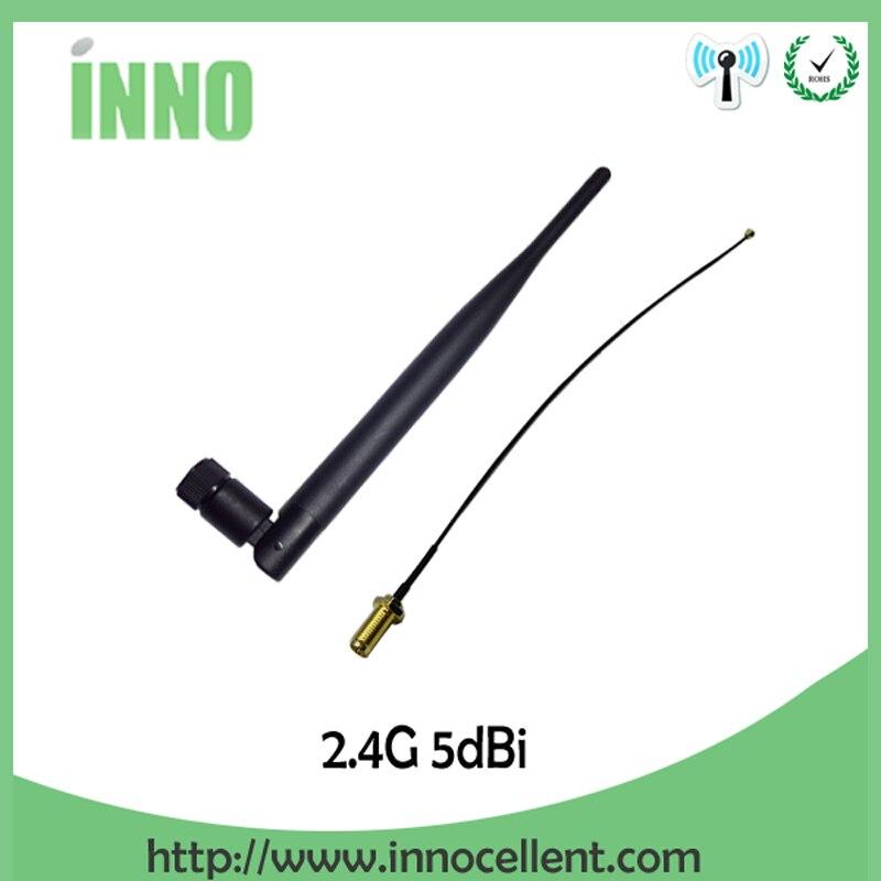 5pcs Wifi Antenna Antena 2.4g Cellular Booster Car Para Modem Sma Hf Telephone  Longo Alcance Signal Router Gsm Wi-fi+21cm Cable