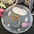 2017 Venda Quente Diâmetro 150 cm Animais Lovely Padrão Tapetes de Jogo Do Bebê Para Crianças Em Desenvolvimento Rastejando Tapete Tapete De Armazenamento De Brinquedos saco