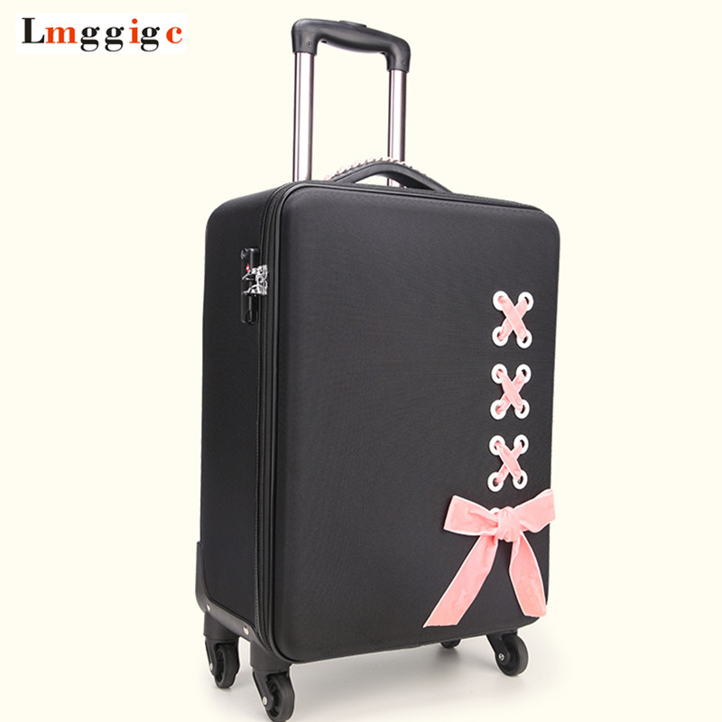 New Women Rolling Luggage Suitcase Bag ,Fashion Trolley Travel Case with Wheel,2024inch Personality Trunk,Oxford Cloth Box car trunk storage box folding suitcase with wheel portable new top quality travel trolley carts 3 colors daily usage