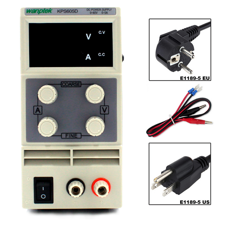 Laboratory power supply 60V 5A Single phase adjustable SMPS Digital mini voltage regulator 0 1V 0
