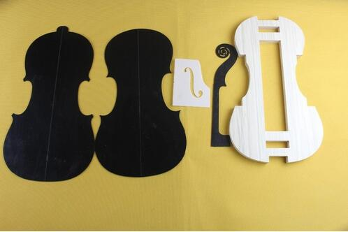 1 set 4 4 violin neck f hole templet and mold mold templet violin