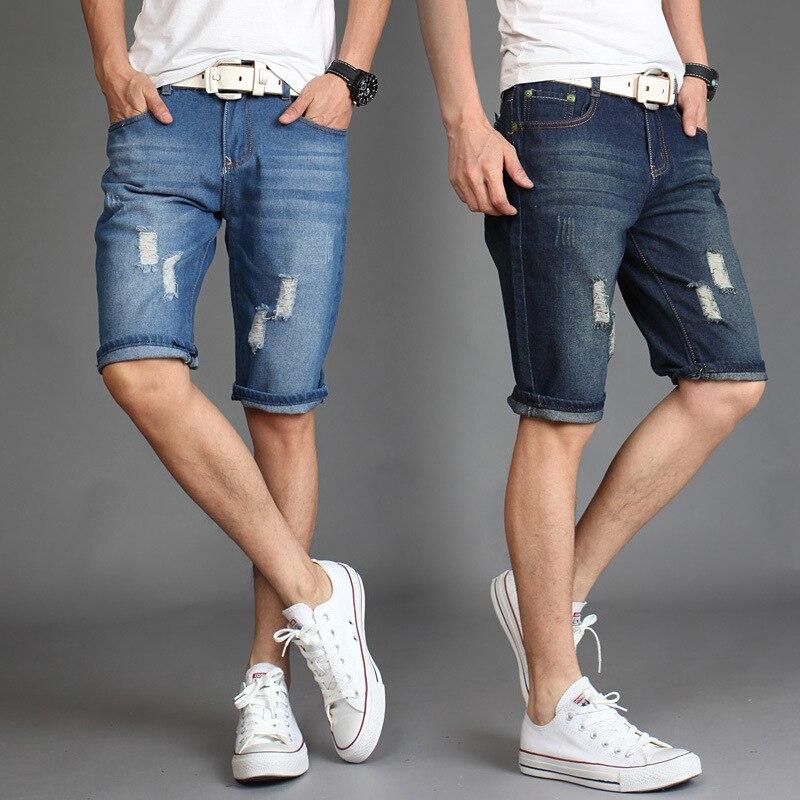 e5bf671b65 Hombres ligero Denim Jean Shorts azul corto Plus Size Jeans pantalones  cortos pantalones de los hombres 28 38 en Pantalones vaqueros de La ropa de  los ...