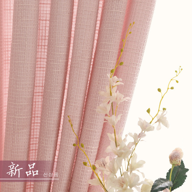 Window Curtain Living Room Linen Tulle Pink Princess Room Soft ...