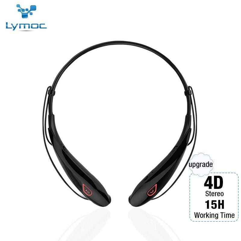 Lymoc Atualização Y98 4D V4.2 Fones de Ouvido Sem Fio Bluetooth Stereo Headset Neckband Esporte Fone De Ouvido Handfree 15Hrs Playtime HD MIC