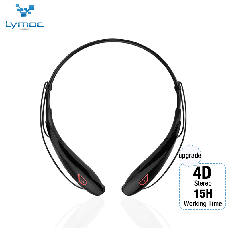 Lymoc Upgrade Y98 4D Stereo Bluetooth Headset Neckband Wireless Earphones V4 2 Sport Headphone 15Hrs Playtime Handfree HD MIC