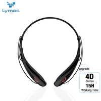 Lymoc Upgrade Y98 4D Stereo Bluetooth Headset Neckband Wireless Earphones V4.2 Sport Headphone 15Hrs Playtime Handfree HD MIC