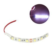 10 см 6LED 5050 автомобильный ленточный светильник, белая Автомобильная мотоциклетная Гибкая полоса, автомобильный водонепроницаемый декоративный светильник, алюминиевая Диодная лампа