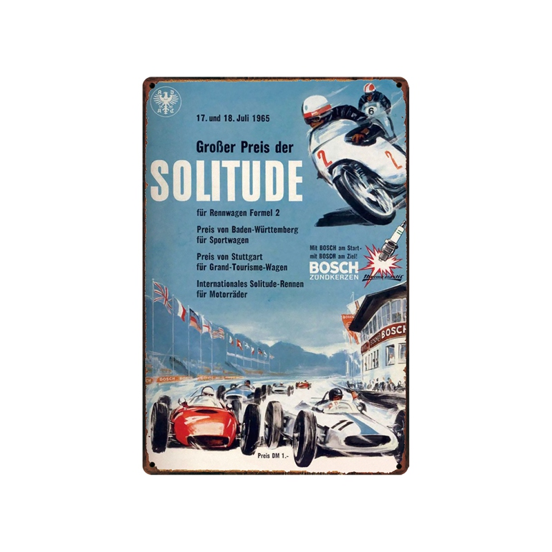 DecorMan Car Racing old Metal Posters Custom wholesale tin signs Mural Paintings Bar PUB Decor HY 1736 in Plaques Signs from Home Garden