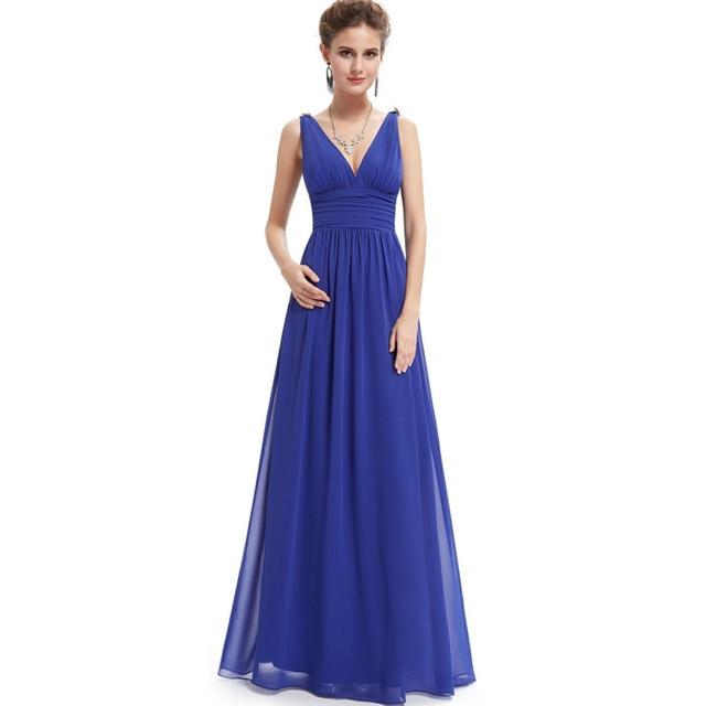 Aliexpress.com : Buy 2018 Quality Ladies Dresses Slim Style Blue XL ...