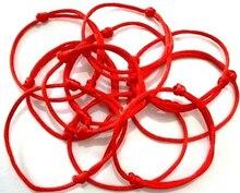 Expédition rapide! 100 pièces/lot kabbale fait à la main rouge chaîne Bracelet mauvais œil bijoux Kabala bonne chance Bracelet Protection