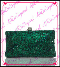 Aidocrystal  green crystal evening bag and shoes set for party