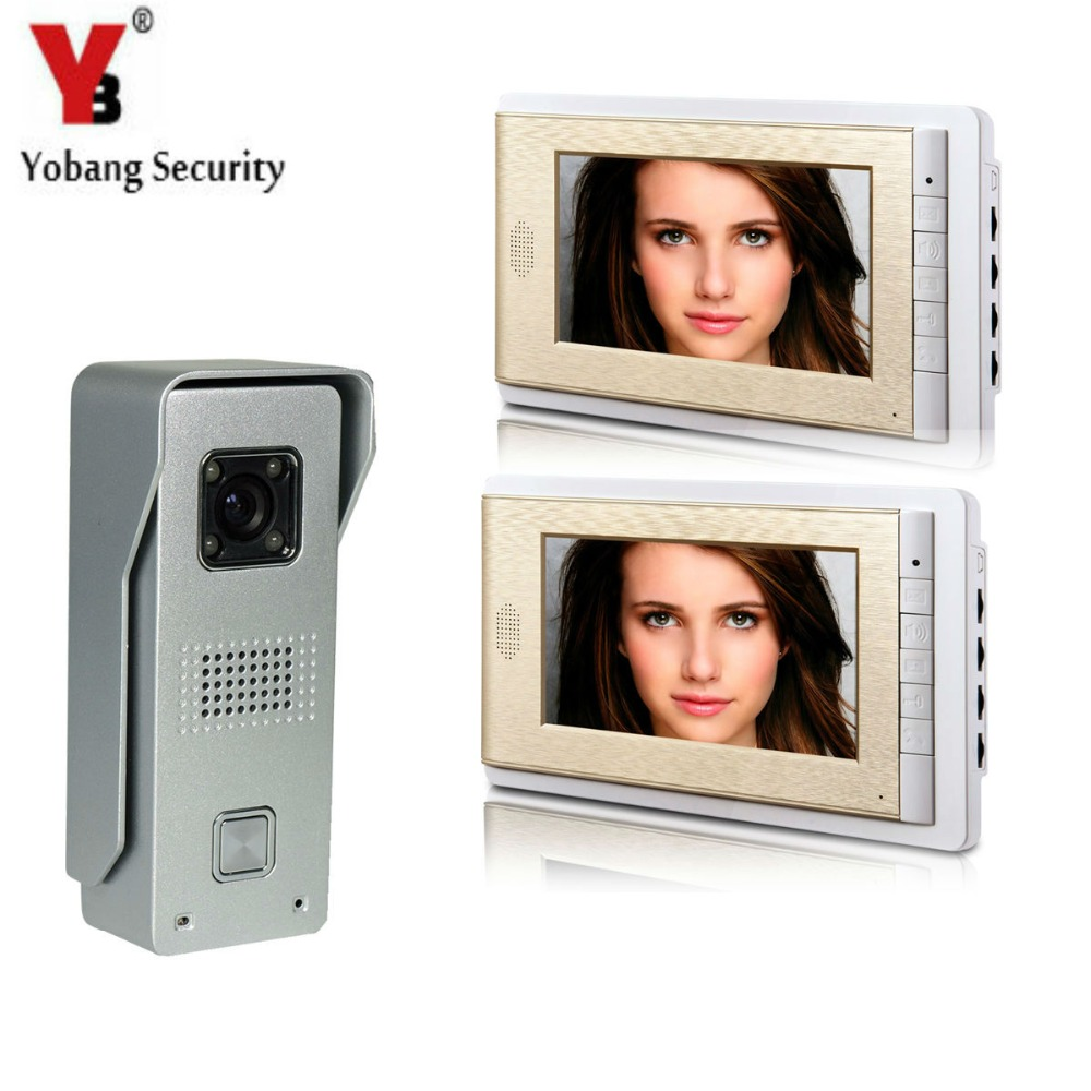 YobangSecurity Video Intercom Monitor 7 Video Doorbell Phone Door Phone Home Security Color Wired for House Office Apartment