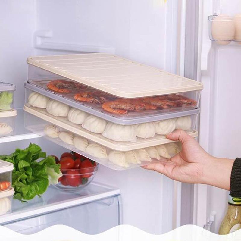 Transparent Plastic Refrigerator Food Storage Box Organizador Kitchen Casket For Decorations Rangement Drawer Organizer S/L A30