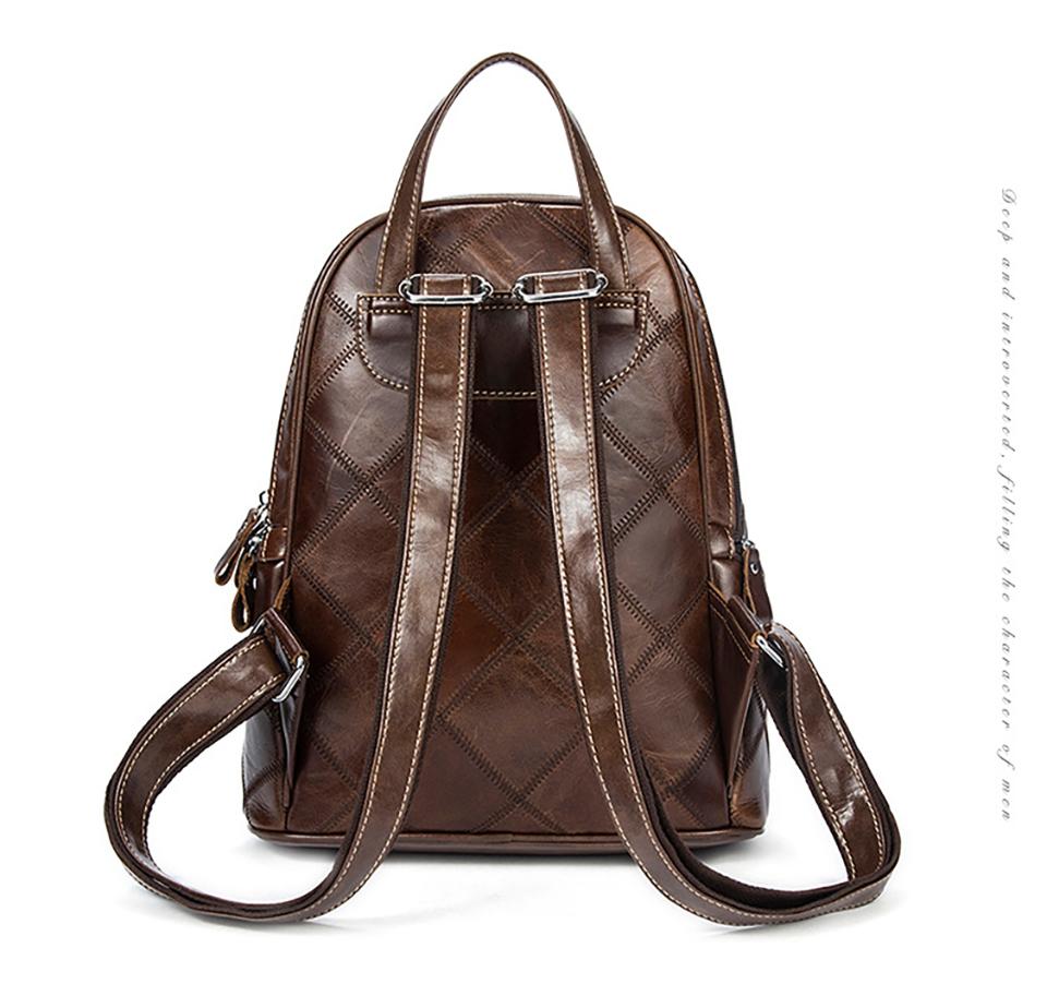 6fcbdf676d63c Großhandel BOSIKAS Frauen Rucksack Echtes Leder Rucksack Vintage ...