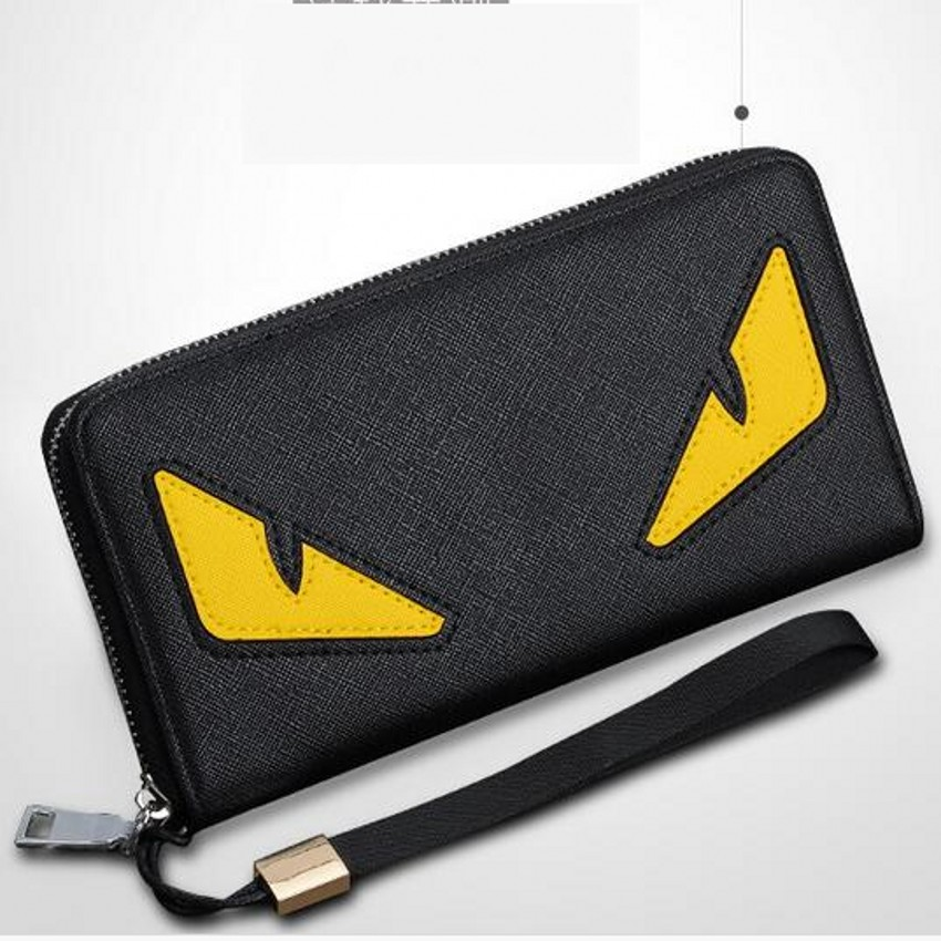 Famous Brand Fashion Long Eyes Anime Men Leather Wallets Purses Carteira Masculina Couro Portefeuille Homme 40 portefeuille femme carteira masculina leather wallet mini wallets monedero hombre porte monnaie homme mens wallets small