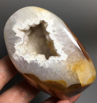 396g Agate Geode ! High quality  NATURAL CARNELIAN CRYSTAL QUARTZ Healing Agate geode  crystal stone