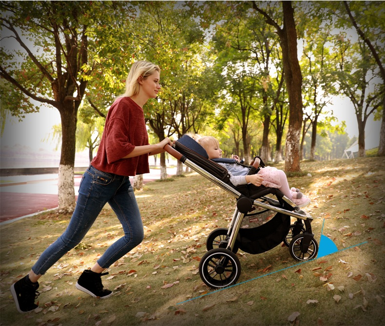 kinderwagen, reclinar assento reversível Two-Way de alta