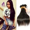 5 Пучки Девственной Бразильские Волосы Wholesell Бразильские Прямые Волосы Продукты Королева Волос Дешевое Человеческих Волос NaturalBlack