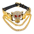 Ufashional Summer style necklace from India statement brand leopard animal leopard pendant gold choker necklaces for women