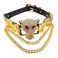Ufashional Verano estilo collar de La India declaración marca leopard animal leopard colgante gargantilla de oro collares para las mujeres