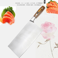 LDZ Chinese Style Carbon Steel Handmade Professional Pork Butcher Chef Knife Kitchen Cut Bone Meat Knife Sharp Slaughter Knives