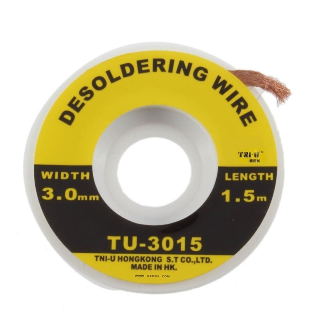 5 Feet 1.5M 3mm Desoldering Braid Solder Remover Wick Wire Repair Tool TU-3015