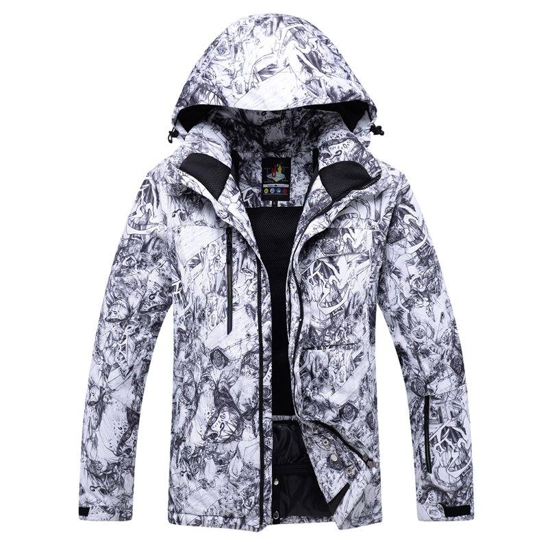2018 nouveaux hommes vestes de snowboard très chaud coupe-vent imperméable veste de ski de neige vêtements d'hiver en plein air