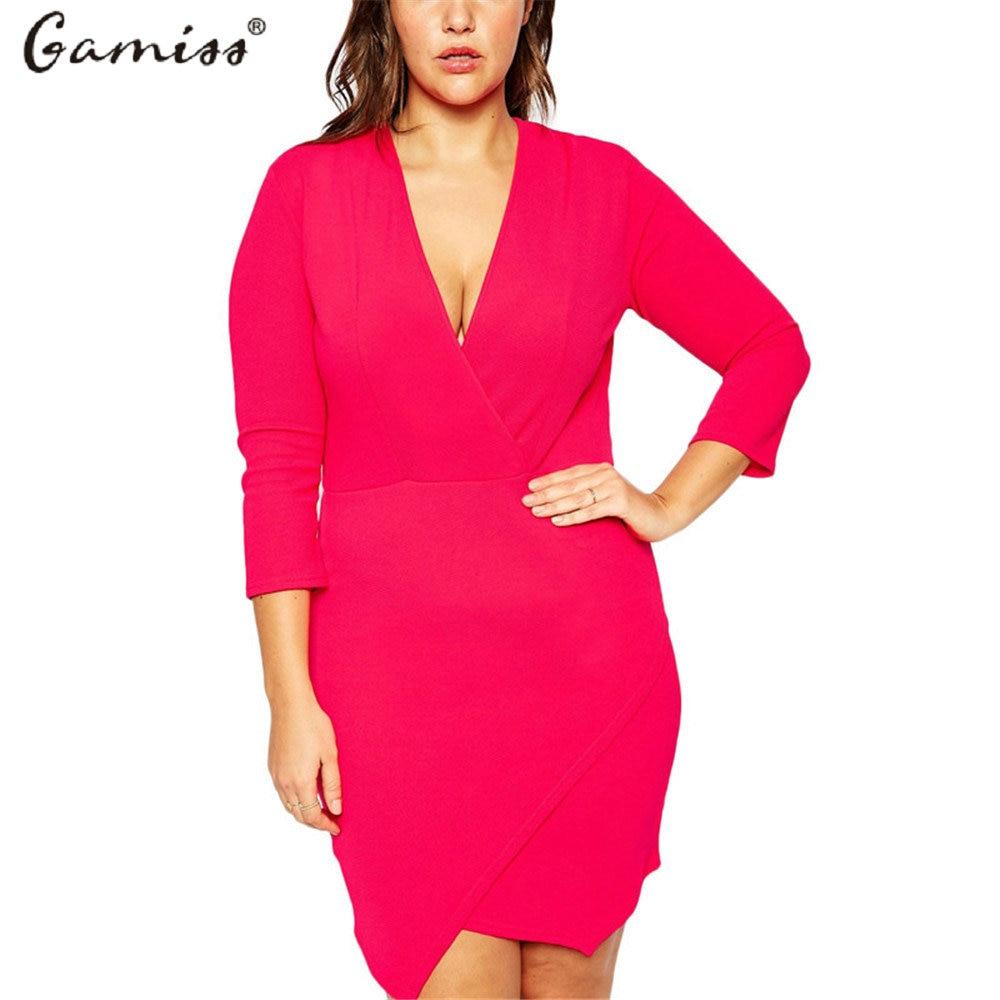Gamiss 2016 Summer Plus Size Women Dresses Fashion Printing Round ...