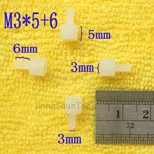 1Pcs M3*5+6 White Nylon Standoff Spacer Standard M3 Male-Female 5mm Kit Repair Set High Quality