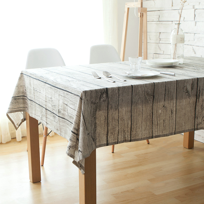 Wooden Texture Pattern Cotton Dining Table Cloth, Abstract Style Non Slip  Dining Table Cloth Table Cover Free Shipping In Tablecloths From Home U0026  Garden On ...