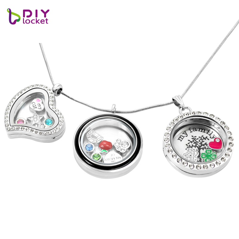 lockets girl dangle silver floating necklace living chain plate family origami kseb charms locket tagged boy