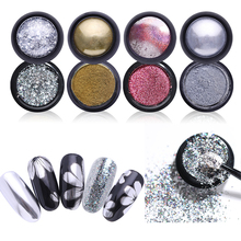 0.5g/1g Mirror Nail Glitter Chrome For Decoration Laser Rainbow Powder Colorful Art Holographic Manicure