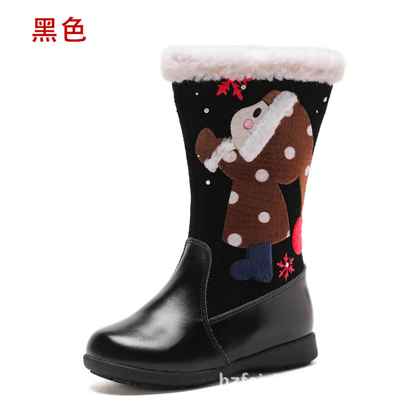 Santa Claus childrens high quality leather boots, super warm non-slip comfortable baby shoes girl bootsSanta Claus childrens high quality leather boots, super warm non-slip comfortable baby shoes girl boots